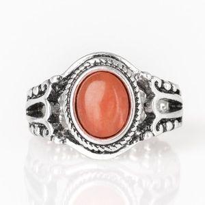 Peacefully Peaceful Orange Ring